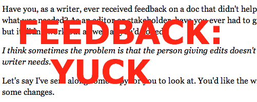 Feedback: Yuck